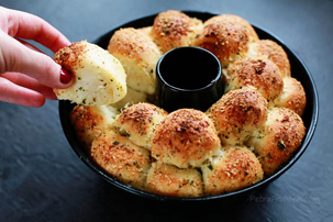 Garlic Parmesan Pull-Apart Bread recipe with step by step pictures, recipe, ingredients, pictures, images