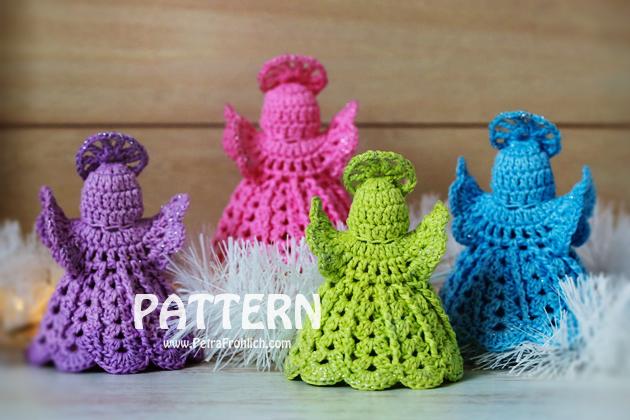 Crochet Angel Ornaments (Pattern No. 74)   Zoom Yummy ...