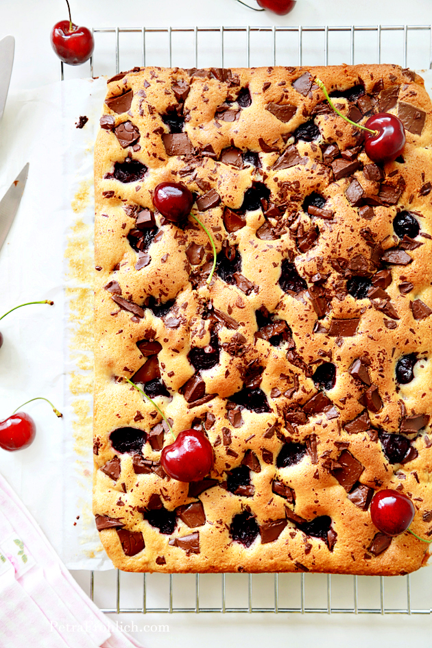chocolate and cherry squares recipe
