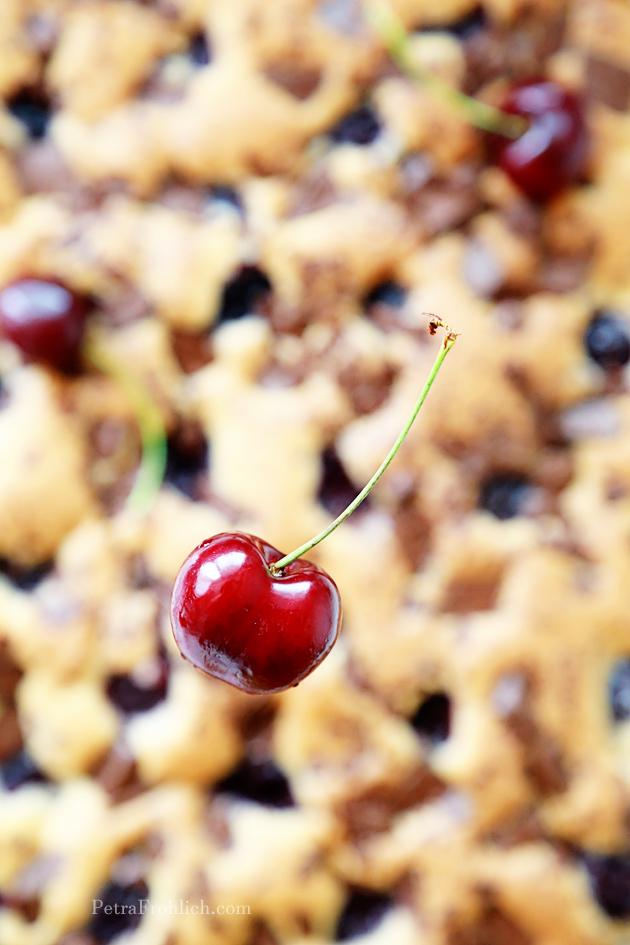 chocolate and cherry squares recipe