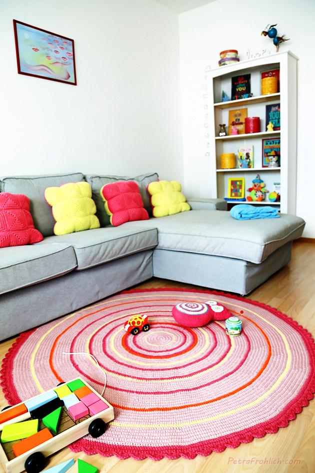 round crochet cushion tutorial